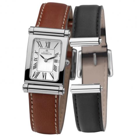 Montre Herbelin Antares - bracelet Cuir - COF.17048/01NG