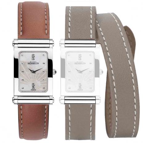 Montre Herbelin Antares - bracelet Cuir - COF.17048/59GTL