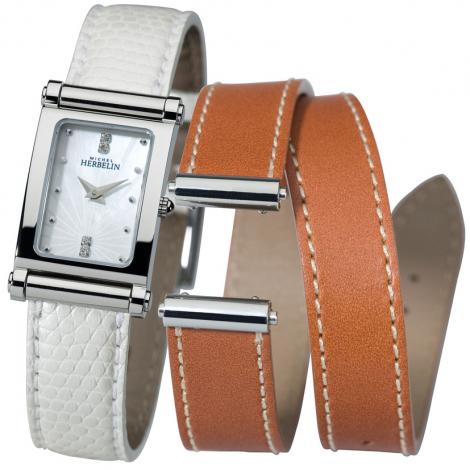 Montre Herbelin Antares - bracelet Cuir - COF.17048/59L