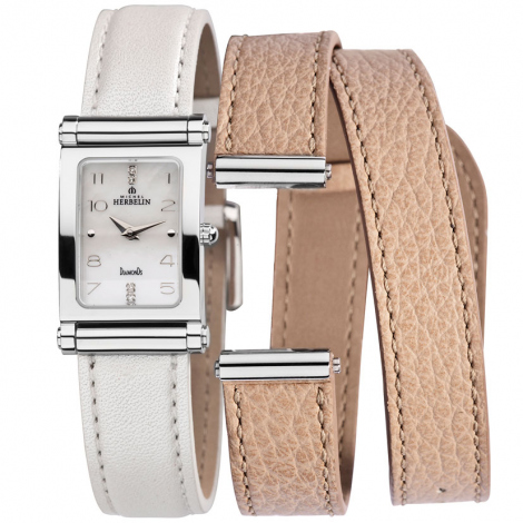 Montre Herbelin Antares - bracelet Cuir - COF.17048/89WSL