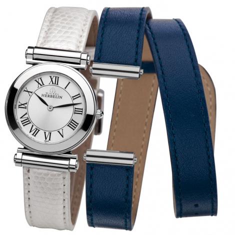 Montre Herbelin Antares - bracelet Cuir - COF.17443/01WBL