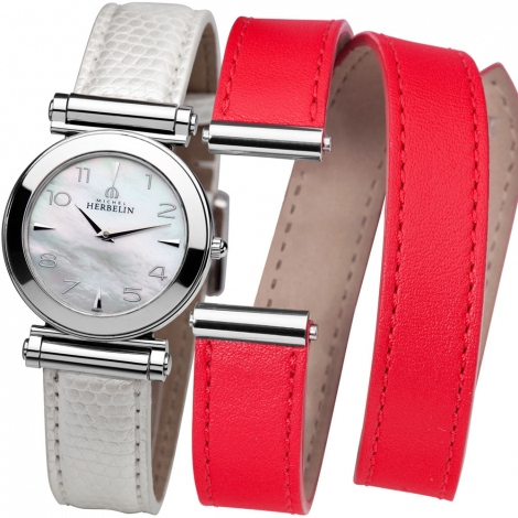 Montre Herbelin Antares - bracelet Cuir - COF.17443/19WR