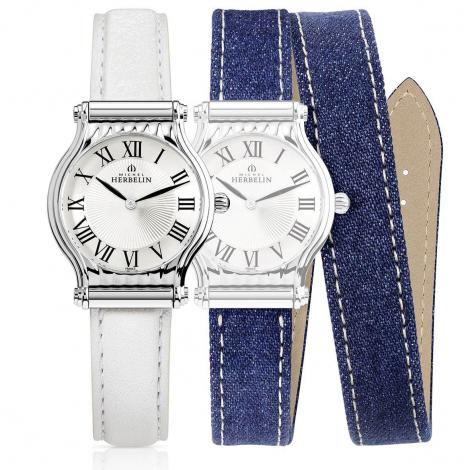 Montre Herbelin Antares - bracelet Cuir - COF.17447-08WLJ