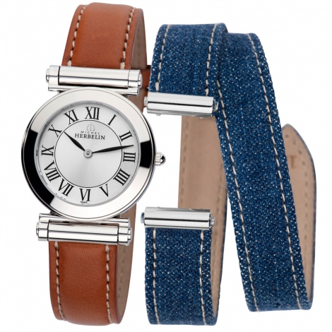 Montre Herbelin Antares - bracelet Textile/Cuir - COF.17443/01GJ