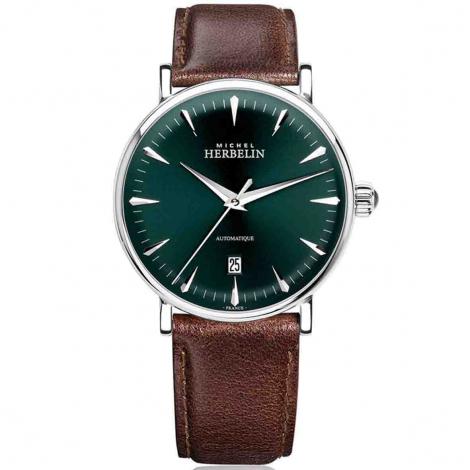 Montre Herbelin Inspiration  Automatique Cadran Vert Bracelet Cuir - 1647/AP16BR