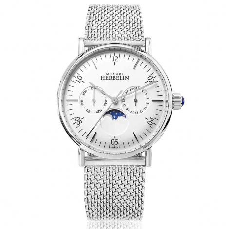 Montre Herbelin Inspiration  Quartz Cadran Blanc Bracelet Acier Maille Milanaise - 12747/AP11B