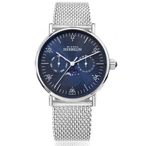 Montre Herbelin Inspiration  Quartz Cadran Bleu Bracelet Acier Maille Milanaise - 12747/AP15B