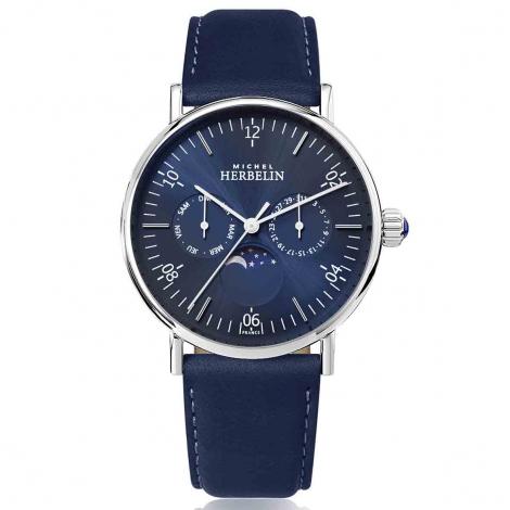 Montre Herbelin Inspiration  Quartz Cadran Bleu Bracelet Cuir - 12747/AP15BL
