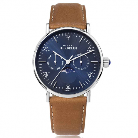 Montre Herbelin Inspiration  Quartz Cadran Bleu Bracelet Cuir - 12747/AP15GO