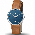 Montre Lip Dauphine 671429- Homme - cadran Bleu- 38 mm - Acier