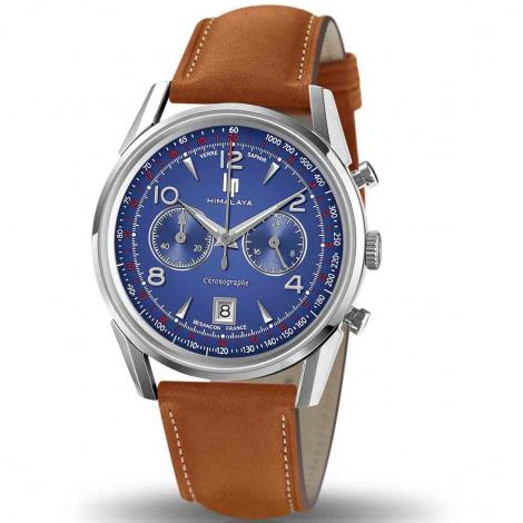 Montre Lip Himalaya 671597- Homme - cadran Bleu- 40 mm - Acier inoxydable