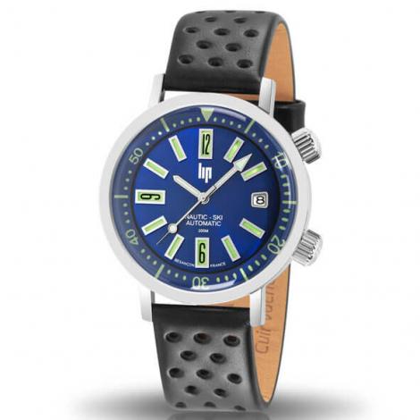 Montre Lip Nautic Ski 671506- Homme - cadran Bleu- 38 mm - Acier inoxydable