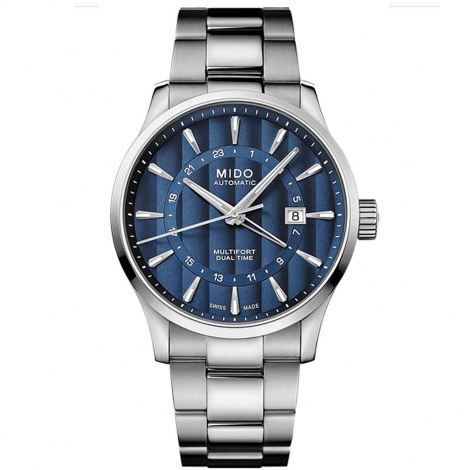 Montre Mido Multifort Dual Time 42 mm- M038.429.11.041.00