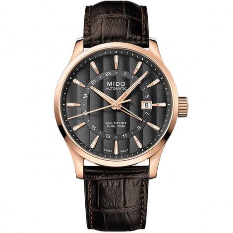 Montre Mido Multifort Dual Time 42 mm- M038.429.36.061.00