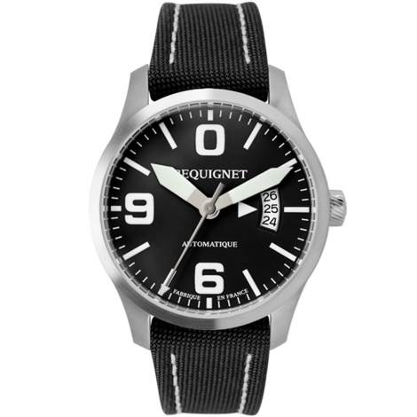 Montre Pequignet Aviateur 42 mm Date 4450443CN