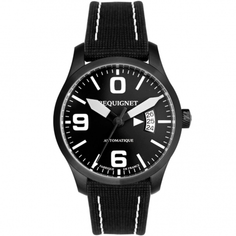 Montre Pequignet Aviateur 42 mm Date 4451443CN
