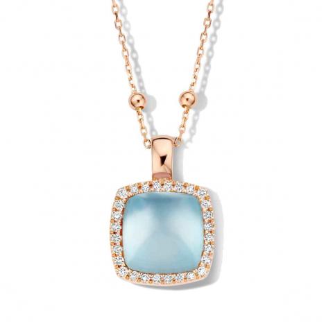 Pendentif avec topaze SB sur nacre et diamants One More  - Pantelleria - 062373TN