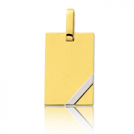 Pendentif bicolore en or 2 Ors Cléa - R2.3G