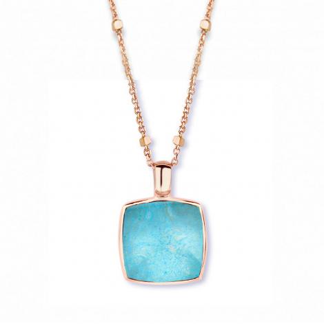Pendentif cristal de roche sur amazonite One More  - Pantelleria - 051403Y2