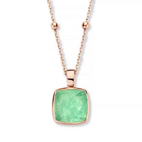 Pendentif Cristal de Roche sur Quartz Verte  - One More  - Pantelleria - 052797Y3