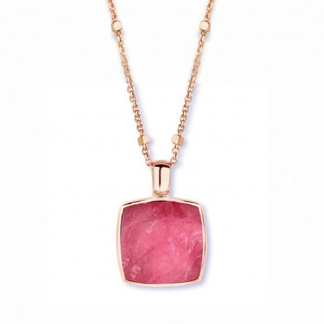 Pendentif cristal de roche sur rubis sur nacre One More  - Pantelleria - 051403NR