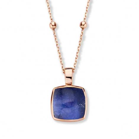 Pendentif Cristal de Roche sur Sodalite  - One More  - Pantelleria - 052797NS
