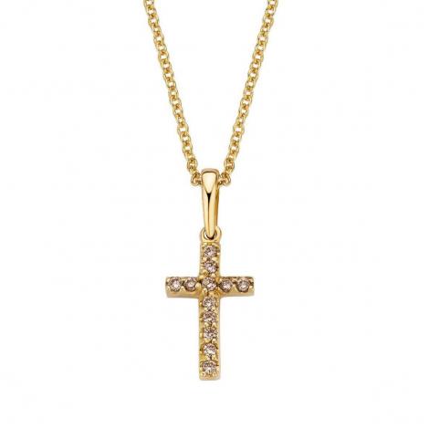 Pendentif croix diamants Bruns One More  - Ischia - 050080A3
