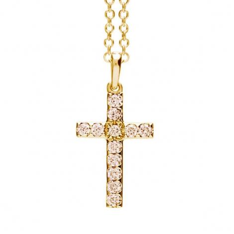 Pendentif croix diamants Bruns One More  - Ischia - 052465A3