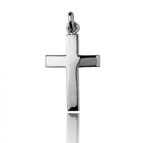 Pendentif Croix Or Blanc Alessia