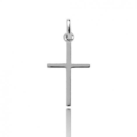 Pendentif Croix Or Blanc Anissa
