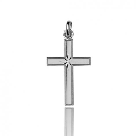Pendentif croix Or Blanc Aria