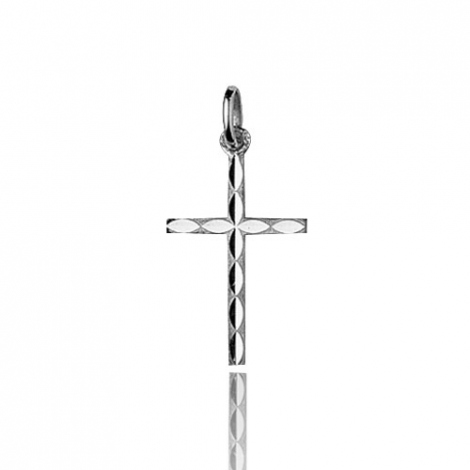 Pendentif croix Or Blanc Chloé