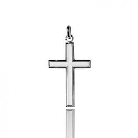 Pendentif croix Or Blanc Fannie