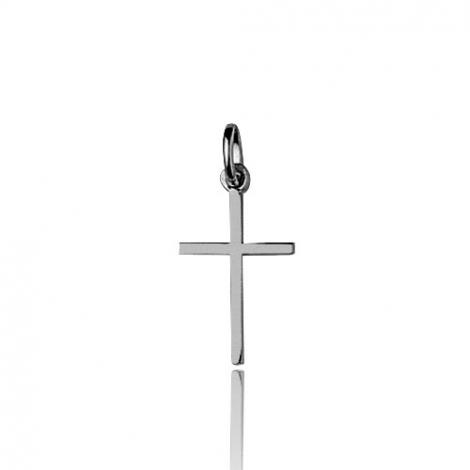 Pendentif Croix Or Blanc Félicia