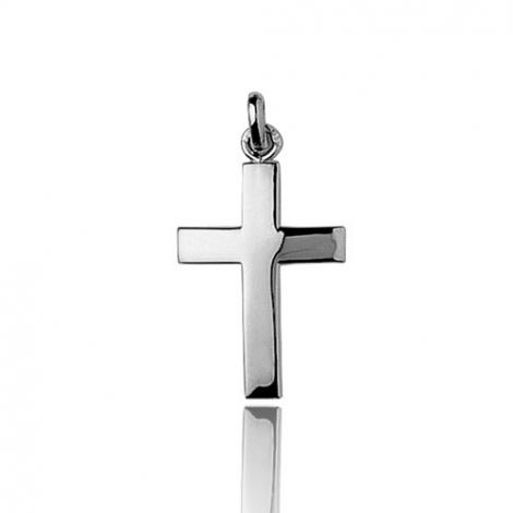 Pendentif Croix Or Blanc Gabrielle