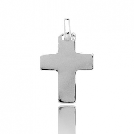 Pendentif Croix Or Blanc Louna