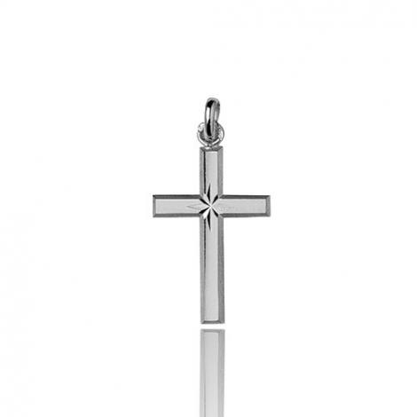 Pendentif croix Or Blanc Melissa