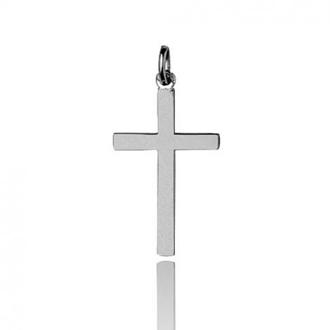 Pendentif Croix Or Blanc Nadya