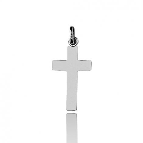 Pendentif Croix Or Blanc Sandrine