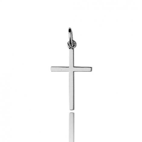 Pendentif Croix Or Blanc Virginie