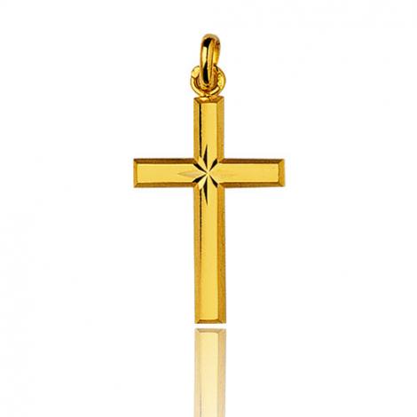 Pendentif croix Or Jaune Aurora