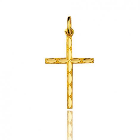 Pendentif croix Or Jaune Lucie