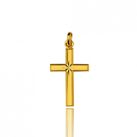 Pendentif croix Or Jaune Rhodia