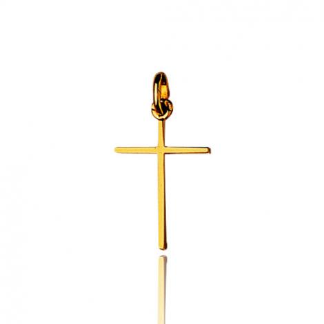 Pendentif Croix Or Jaune Violaine