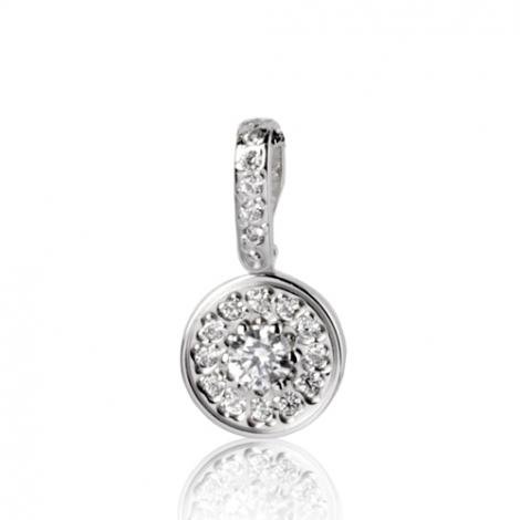 Pendentif diamant Or Blanc 0.17 ct  Uranie - 7PER017WD
