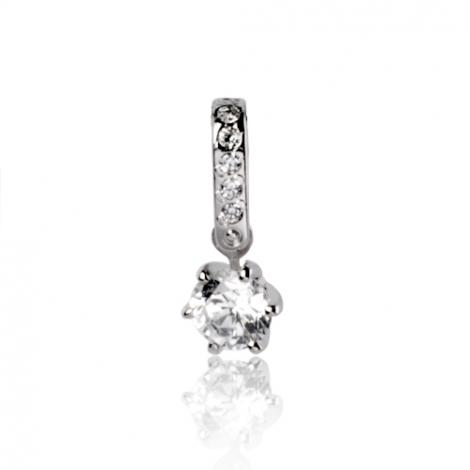 Pendentif diamant Or Blanc 0.20 ct ct Karine