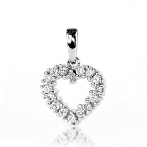 Pendentif diamant Or Blanc 0.3 ct  Leïla - 232035-PE