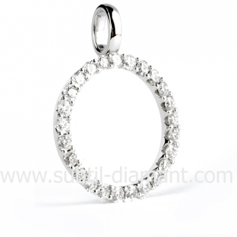 Pendentif diamants 0.50 ct
