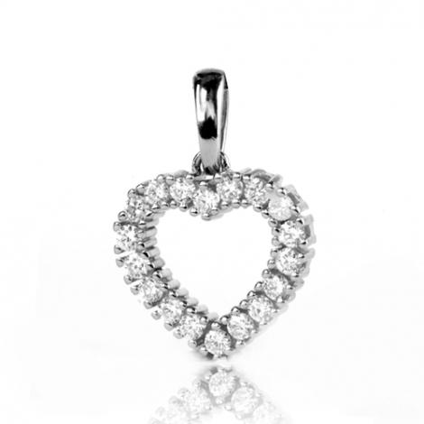 Pendentif diamant Or Blanc 0.5 ct  Laélia - 232036-PB