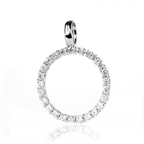 Pendentif diamant Or Blanc 0.75 ct  Cordélie - 232239-Pendentif